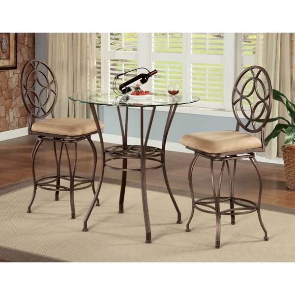Staley 3 Piece Counter Height Dining Set by Fleur De Lis Living