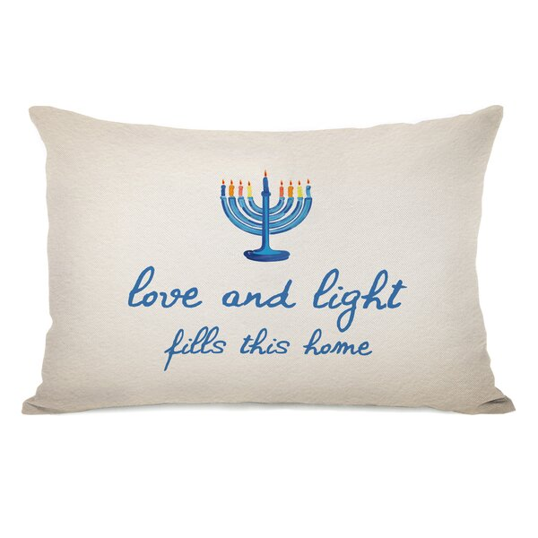 Love and Light Lumbar Pillow by One Bella Casa