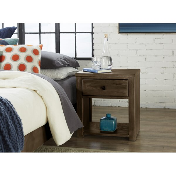 Nagao 1 Drawer Nightstand by Union Rustic