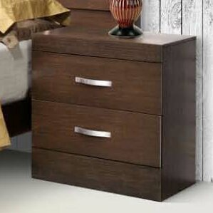 Munich 2 Drawer Nightstand by REZ Furniture