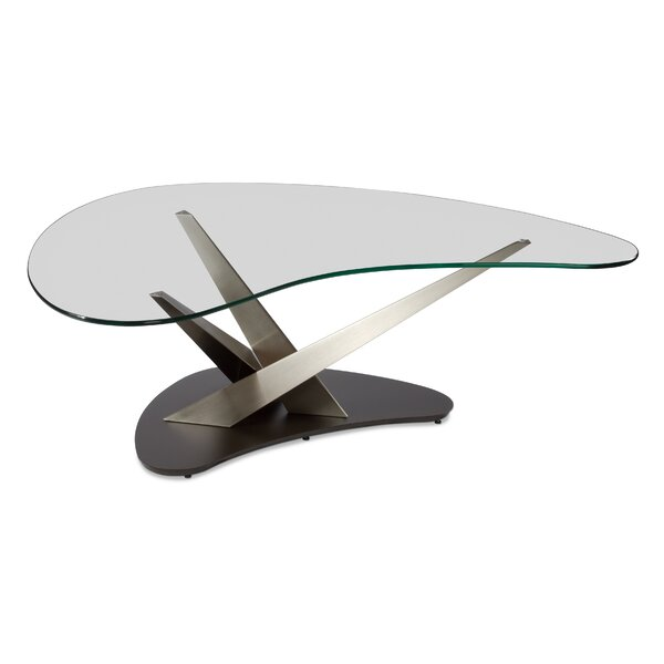 Crystal Boomerang Coffee Table by Elite Modern