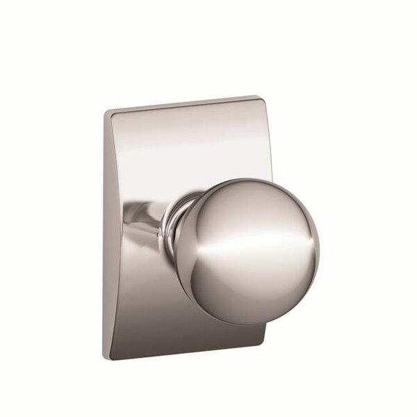 Interior Handleset Orbit Knob and Interior Single Cylinder Deadbolt Thumbturn with Century Trim by Schlage