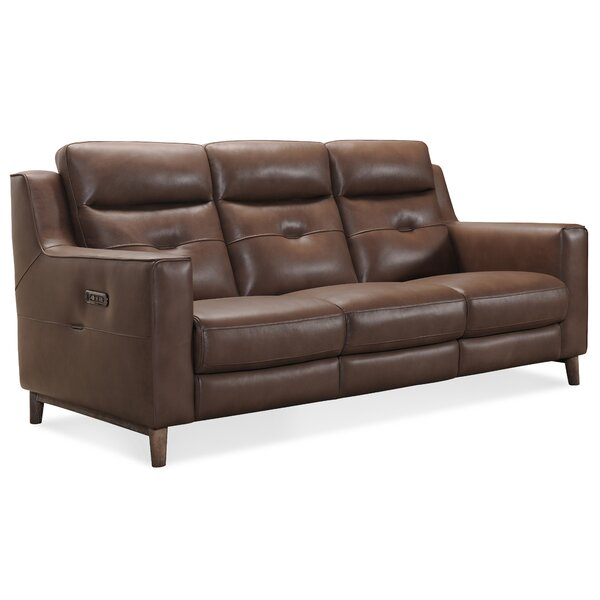 Trendy Lachlan Leather Reclining Sofa by Hooker Furniture by Hooker Furniture