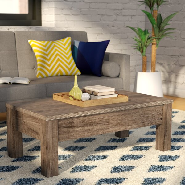 Carolos Solid Wood Lift Top Coffee Table With Storage By Union Rustic