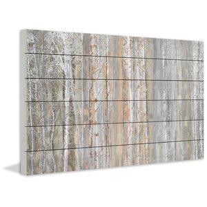 'Aspen Forest 1' by Parvez Taj Painting Print on White Wood by Mercury Row