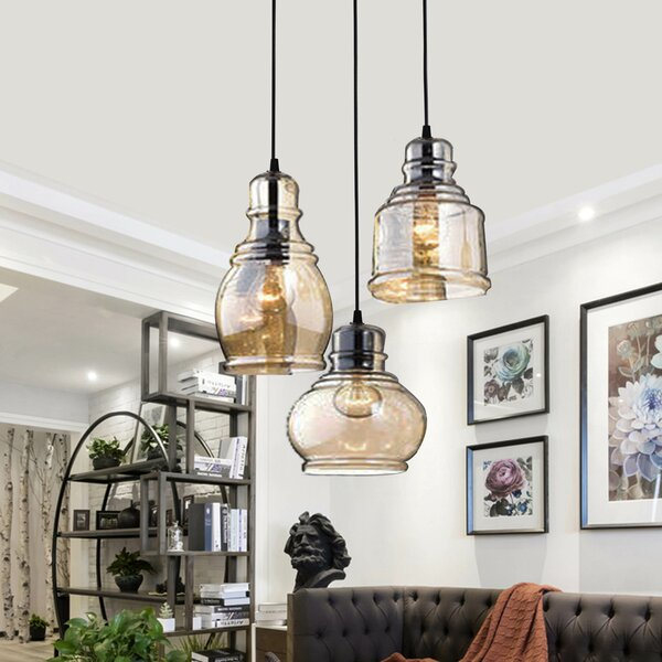 Analia Vintage 3-Light Cluster Pendant by Longshore Tides