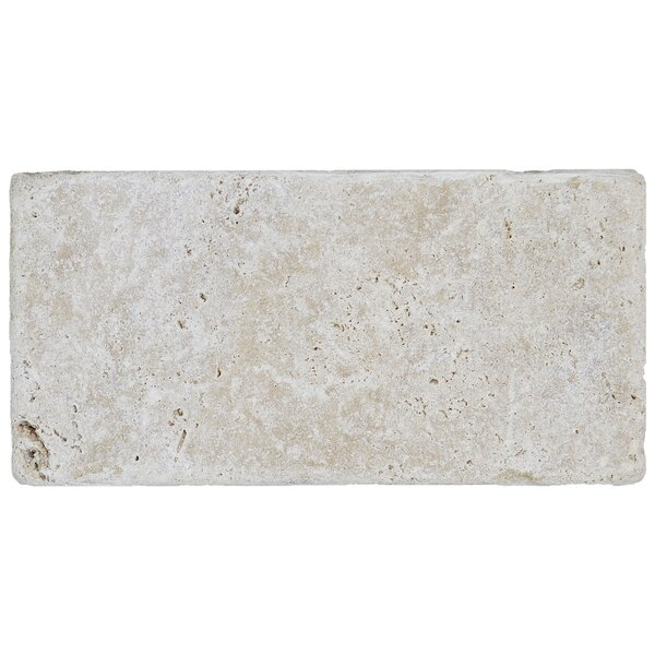 Hopkins 3 x 6 Natural Stone Subway Tile in Ivory Classico by Itona Tile