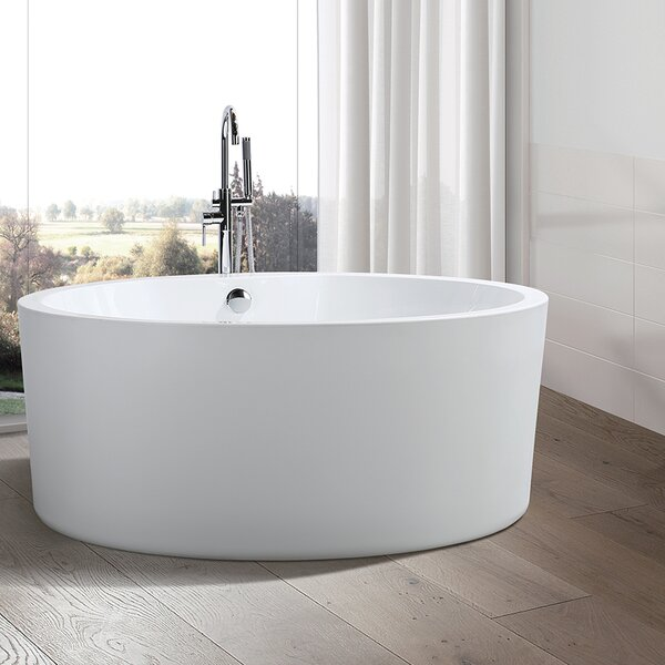 59.1 x 59.1 Freestanding Soaking Bathtub by Vanity Art