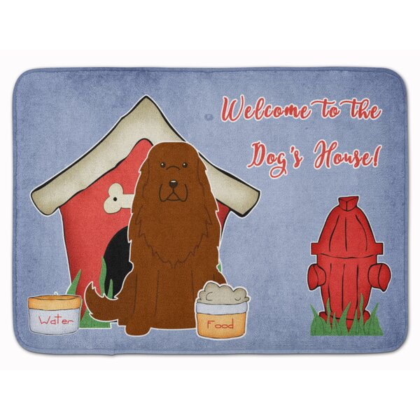 Dog House Caucasian Shepherd Dog Rectangle Microfiber Non-Slip Bath Rug
