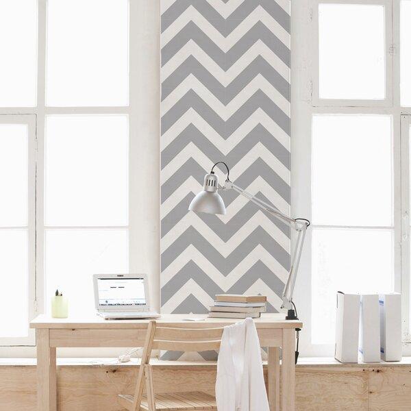 Chevron Stripes 48 x 12 Wallpaper Tile by Wallums Wall Decor