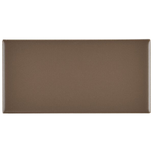Guilford 3 x 6 Ceramic Subway Tile in Matte Artisan Brown by Itona Tile