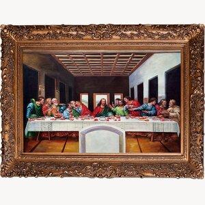 'The Last Supper' by Leonardo Da Vinci Framed Painting Print by La Pastiche