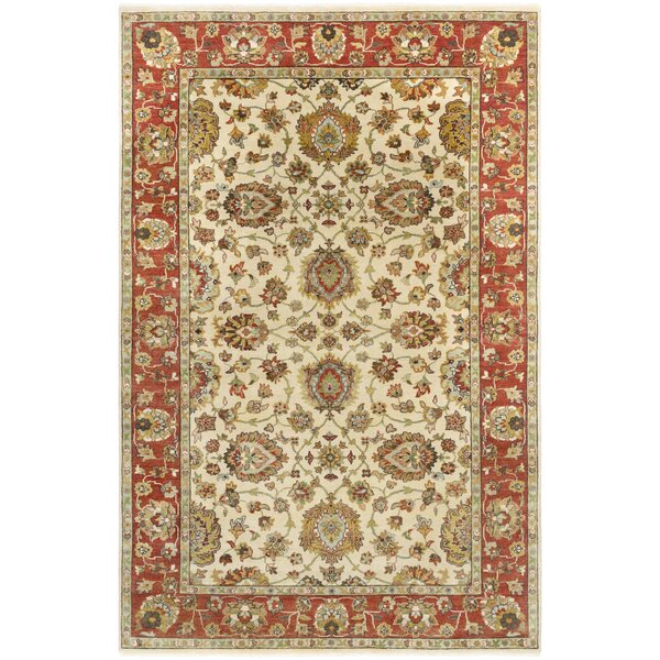 Blaine Hand-Knotted Beige Area Rug by Darby Home Co