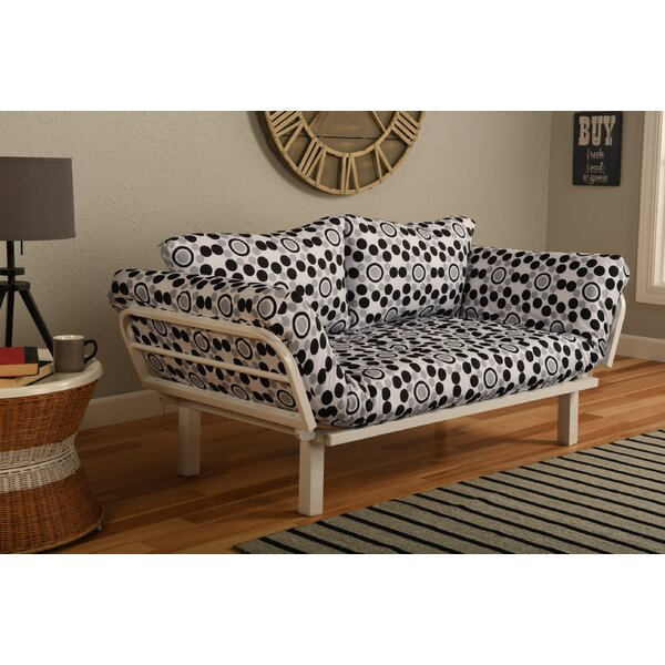 Everett Convertible Lounger in Well Rounded Futon and Mattress by Ebern Designs