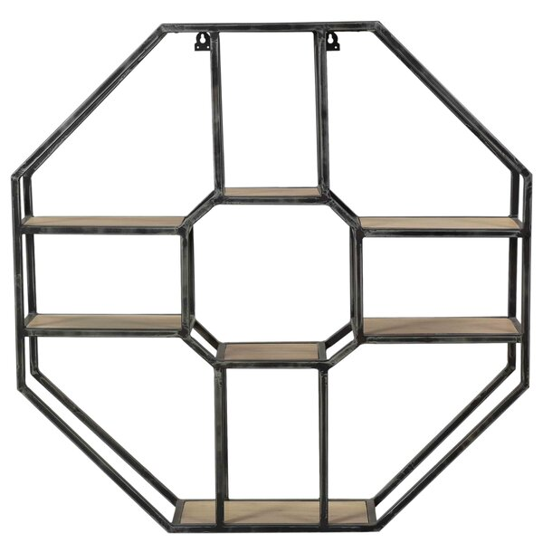 Beadle Octagon Display Geometric Wall Shelf by Brayden Studio