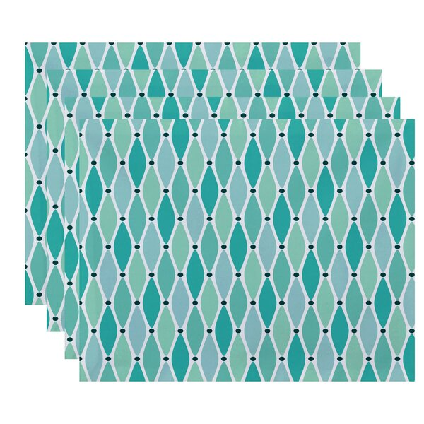 Cedarville Wavy Geometric Print Rectangular Placemat (Set of 4) by Highland Dunes