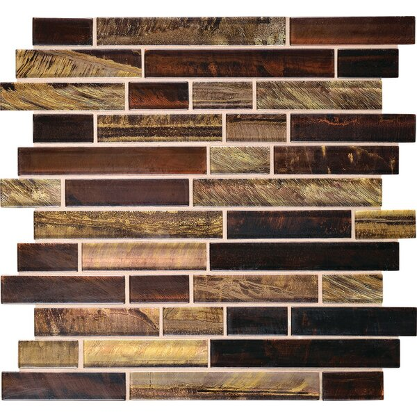 Rhodes Random Sized Glass Mosaic Tile in Siberian by Itona Tile