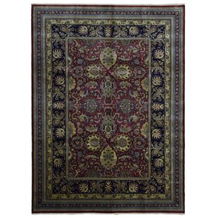 Order Ballyclarc Traditional Hand Woven Wool Red/Black Area Rug ByAstoria Grand
