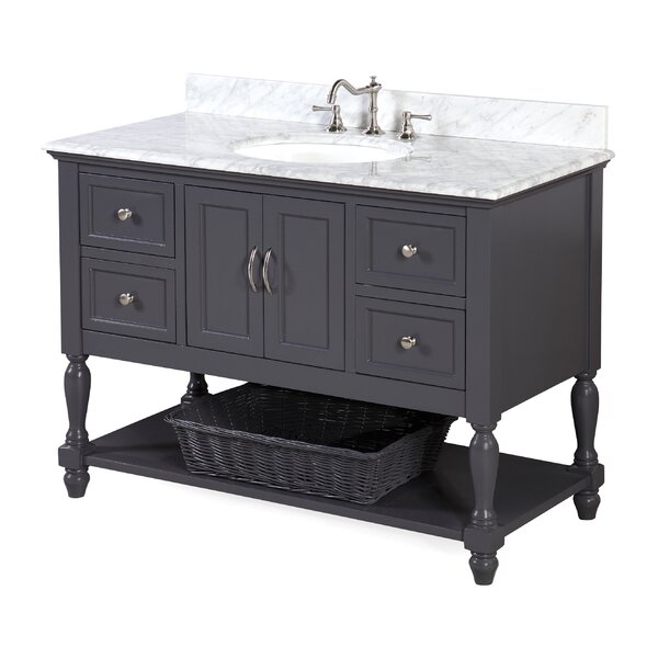 Beverly 48 Single Bathroom Vanity Set by Kitchen Bath Collection