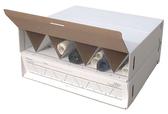 Modular Stackable Roll Filing Box (Set of 2) by Advanced Organizing Systems