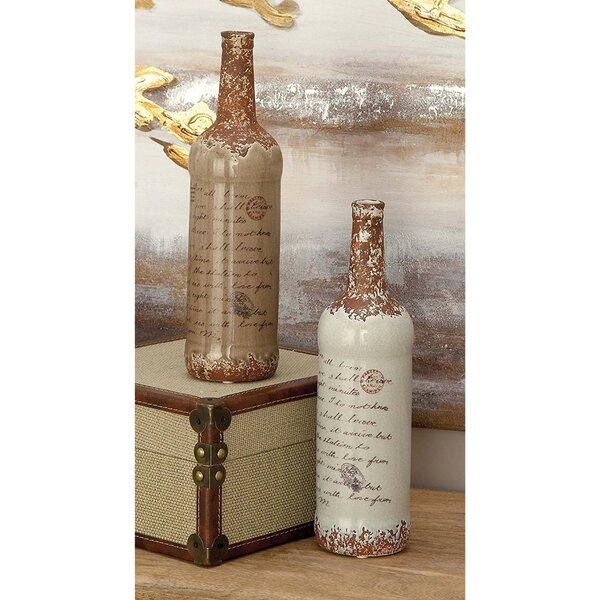 Brown Ceramic Vase Set (Set of 2) by Lark Manor