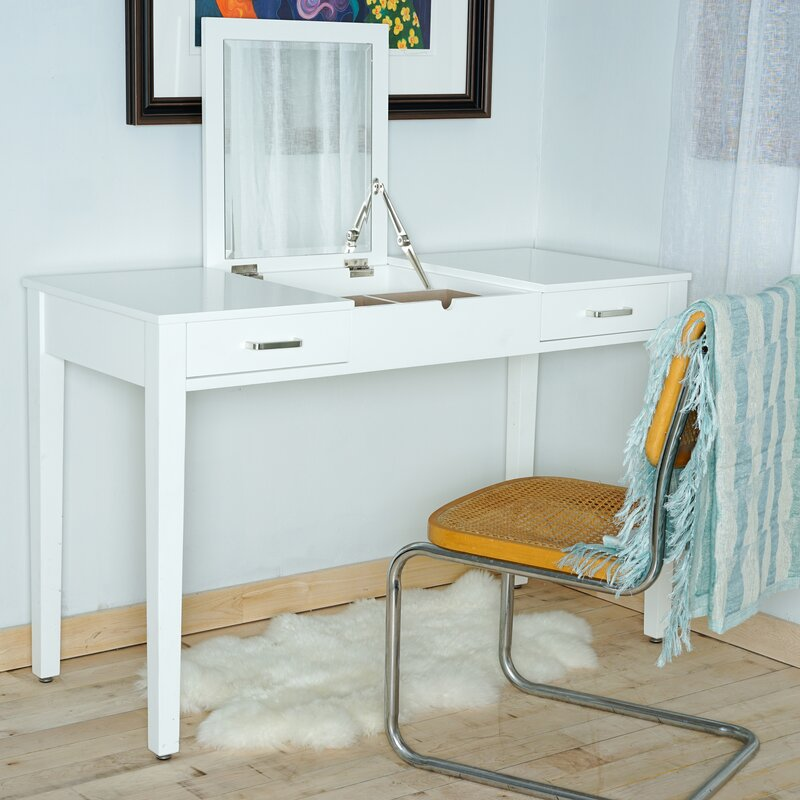Superbe Haven Home Vanity Desk With Mirror