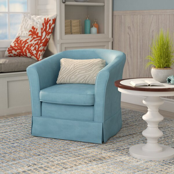 Sevan Swivel Barrel Chair by Laurel Foundry Modern Farmhouse