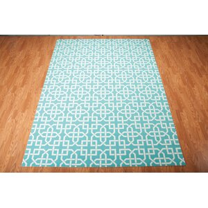 Sheedy Aqua Indoor/Outdoor Area Rug