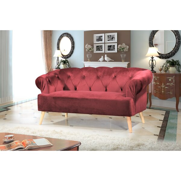 Buy Fashionable Everson Chesterfield Loveseat by Mercer41 by Mercer41