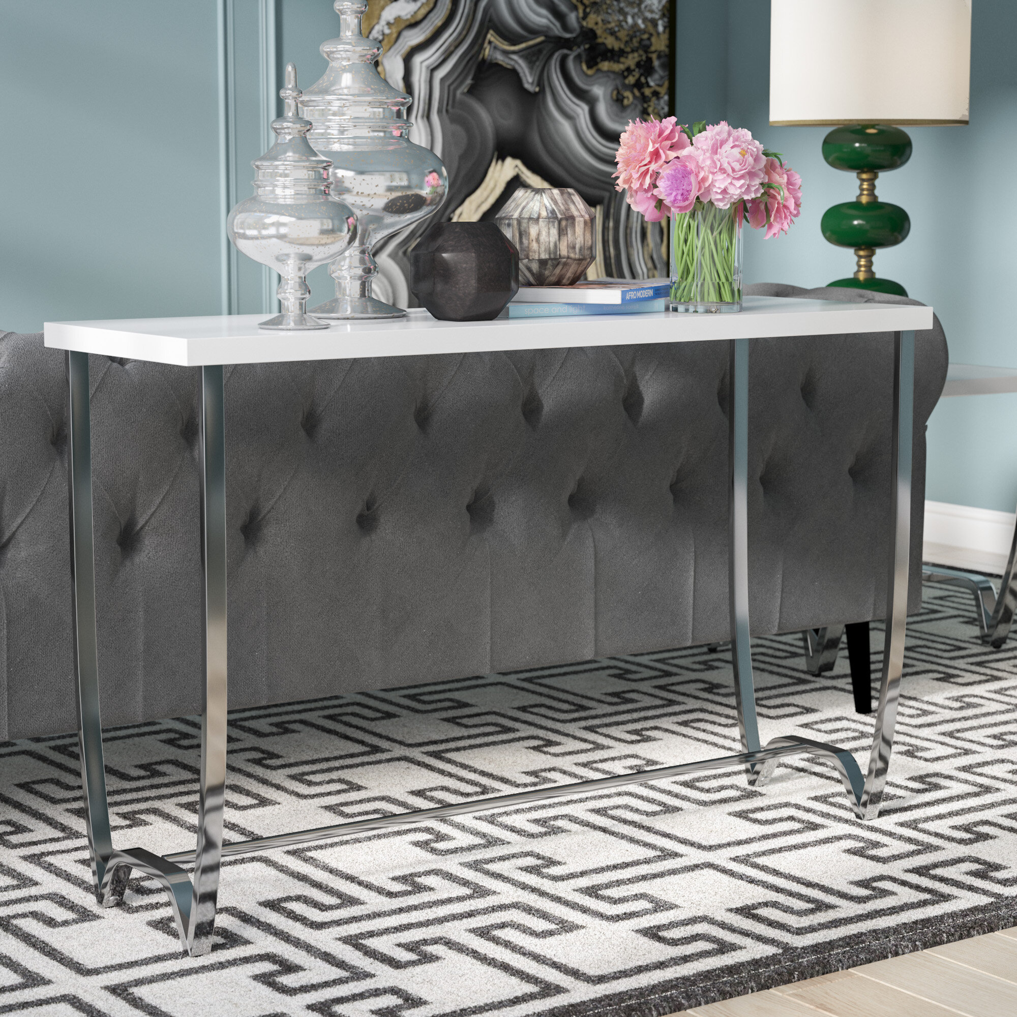 quality design 233d6 0cce1 Aguayo Contemporary Console Table