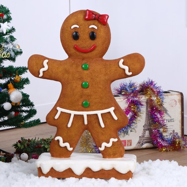 Gingerbread Girl Oversized Figurine by The Holiday Aisle