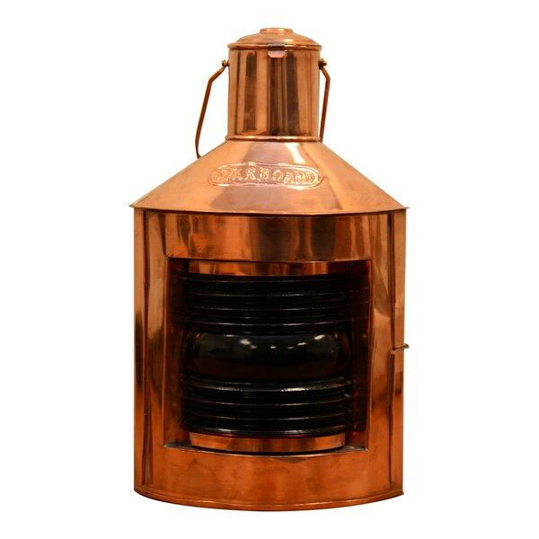 Nautical Ship Light Metal Lantern by Gracie Oaks