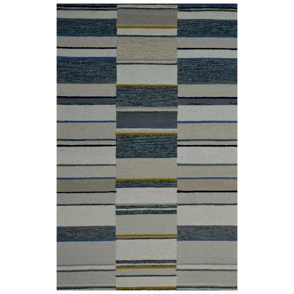 Hand-Woven Ivory/Rust Area Rug by Eastern Weavers