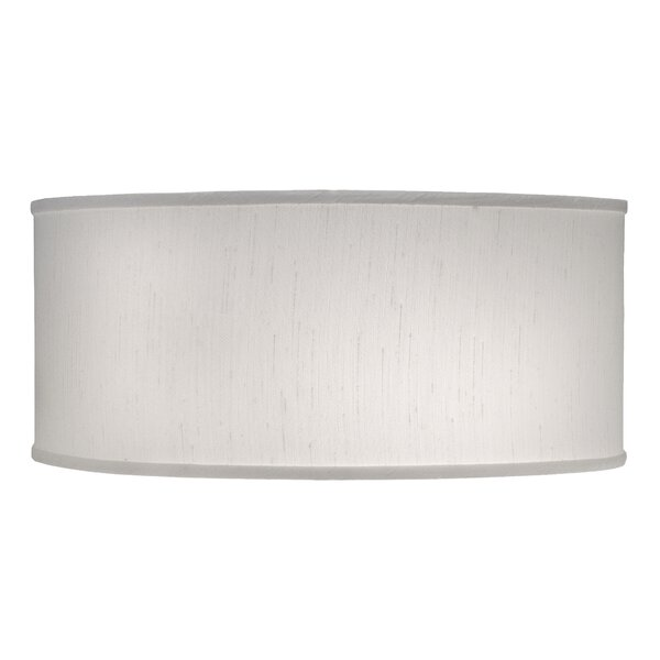 7 H Linen Drum Lamp Shade ( Spider ) in Global White
