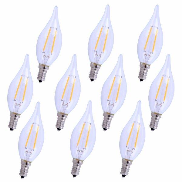3W E12/Candelabra LED Vintage Filament Light Bulb (Set of 10) by Elegant Lighting