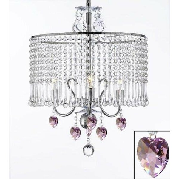 Juarez 3-Light Crystal Chandelier by House of Hampton