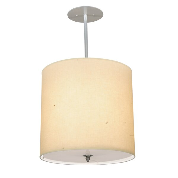 Cilindro Textrene 4-Light Drum Chandelier by Meyda Tiffany