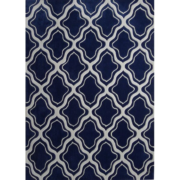 Lamphear Hand-Tufted Gray/Blue Indoor Area Rug by Darby Home Co