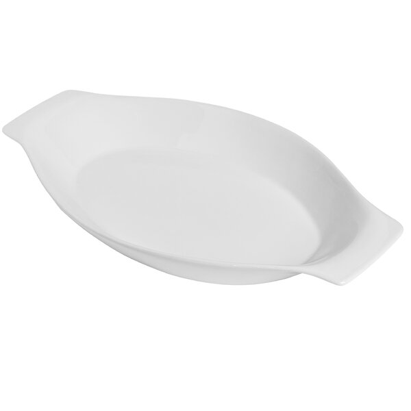 Modern Porcelain Oval Au Gratin by Honey Can Do