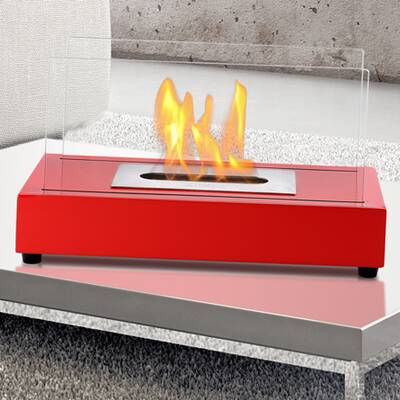 Liberty Red Eco Friendly Ignis Ventless Tabletop Bio Ethanol Fireplace