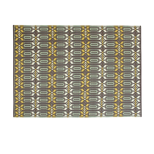 Tahnaout Gray Hand Woven Indoor/Outdoor Area Rug by World Menagerie