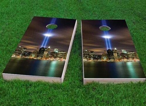 September 11th Light Memorial Cornhole Game (Set of 2) by Custom Cornhole Boards