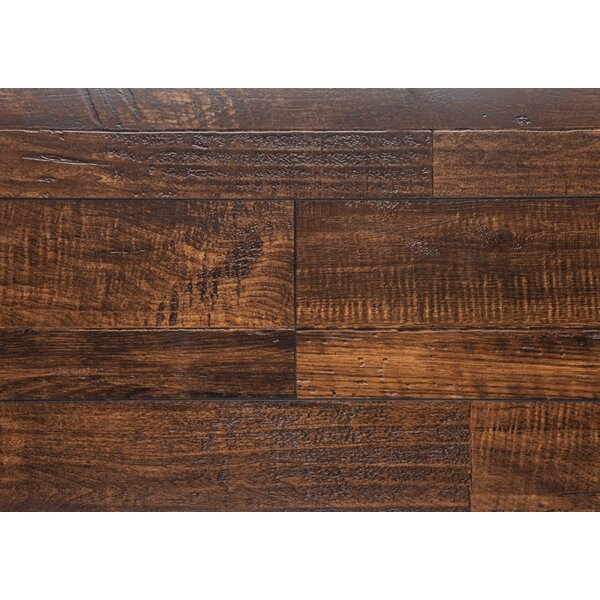 7.5 x 48 x 12mm Oak Laminate Flooring in Pewter by Chic Rugz