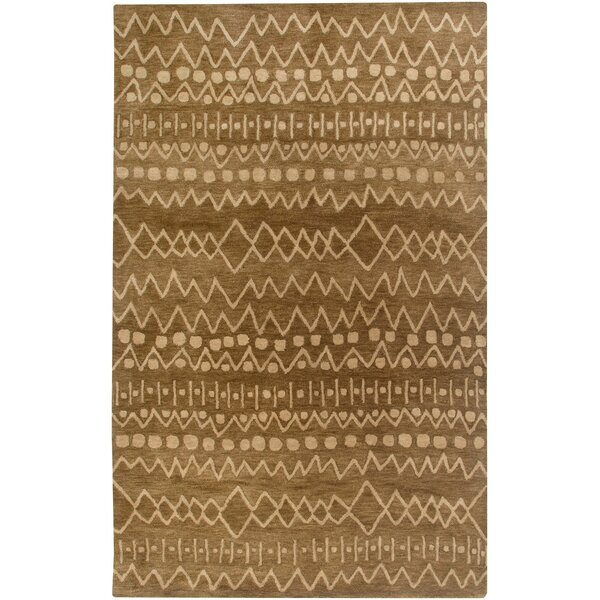 Bristol Hand-Tufted Brown Area Rug by Meridian Rugmakers
