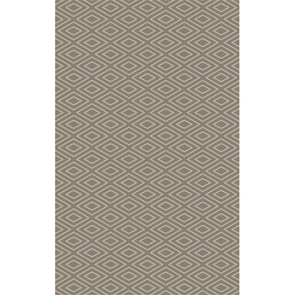 Arcuri Hand-Woven Beige/Taupe Area Rug by Wrought Studio