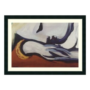 'Dreaming' by Pablo Picasso Framed Painting Print by Amanti Art