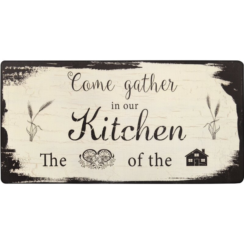 Cook N Comfort Come Gather Kitchen Mat