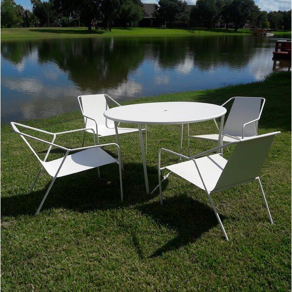 Morwenna Patio 5 Piece Dining Set by Latitude Run