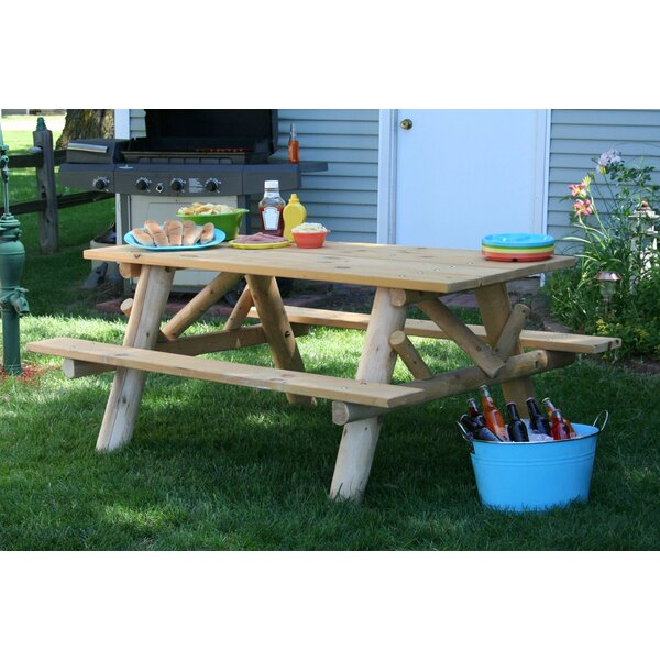 Wooden Picnic Table by Lakeland Mills