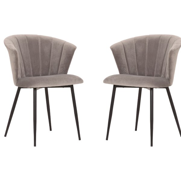 Steel Upholstered Dining Chair (Set of 2) by Brayden Studio